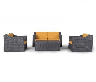grey, yellow, outdoor sofa set