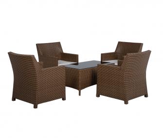 brown, outdoor set, rattan