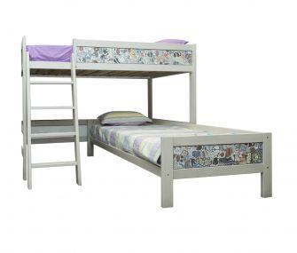 bunk bed, patterned bunk bed,corner bunk bed
