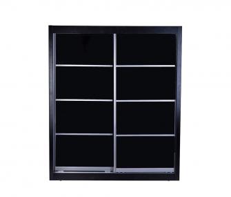 black wardrobe, sliding wardrobe, glossy wardrobe