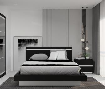 Black youth bedroom , 120 cm bedroom , black bedroom , modern bedroom furniture , youth bedroom