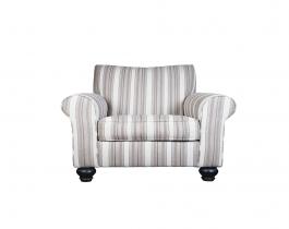 beige armchair, striped armchair, living room