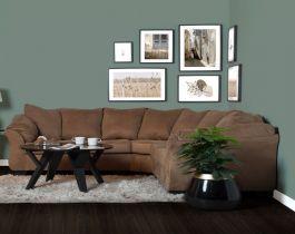 Roomy brown corner sofa,Hub Furniture