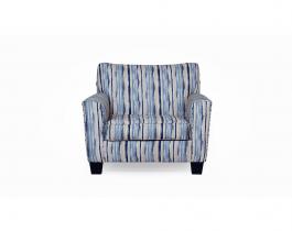 stripped armchair, blue armchair, living room