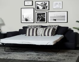 grey sofa bed, convertible sofa, hub furniture