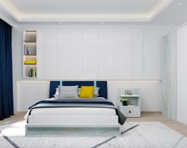 غرفة نوم اطفال ابيض في ازرق
