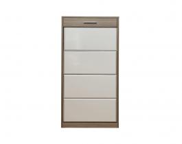 white, beige, tall shoe rack, hub furniture