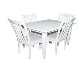 سفره مستطيله و ٤ كرسي، سفره صغيره ابيض ، سفره لون ابيض ، سفرهه بيضاء، سفرهو ٤كرسي ، سفره للمطبخ