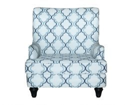 patterned white armchair, armchair, living room
