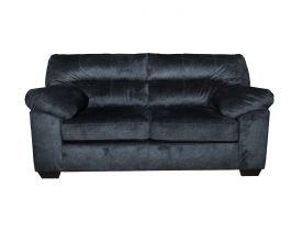dark grey, comfy loveseat, living room