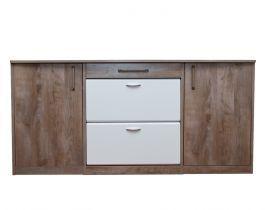 white brown, modern shoe rack, hub furniture