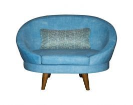 turquoise chair, unique chair, living room